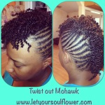 Twist Out MoHawk