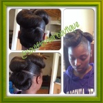 Specialty Bun Style - Natural Hair