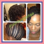 Protective Updo - Natural Hair