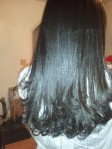 Long Natural Flat Ironing