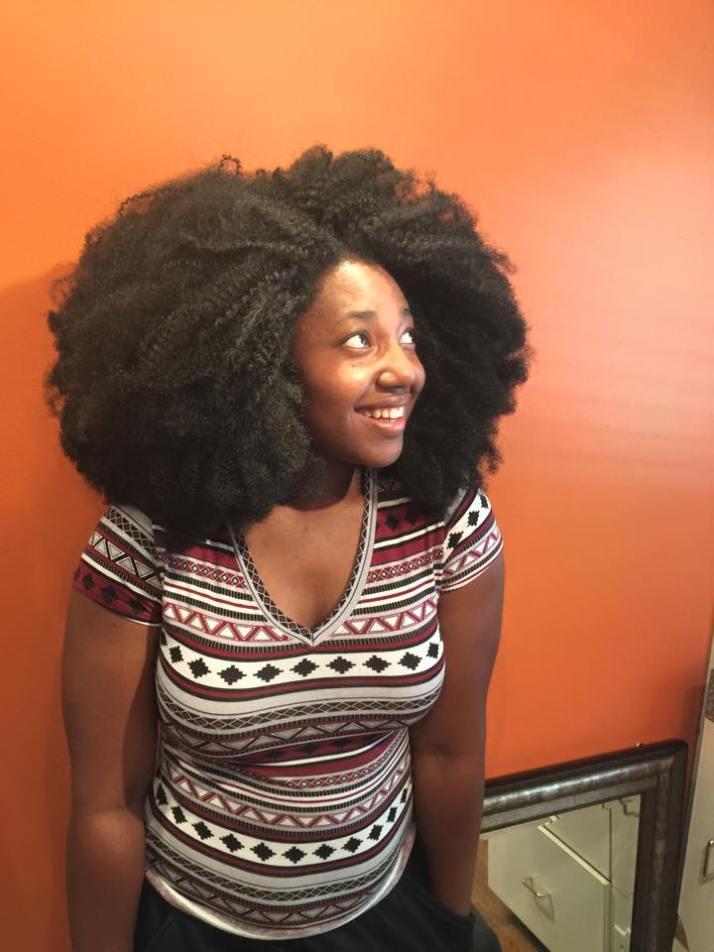 Natural Hair Crochet AFRO