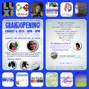SoulFlower Naturals Boutique GRAND OPENING
